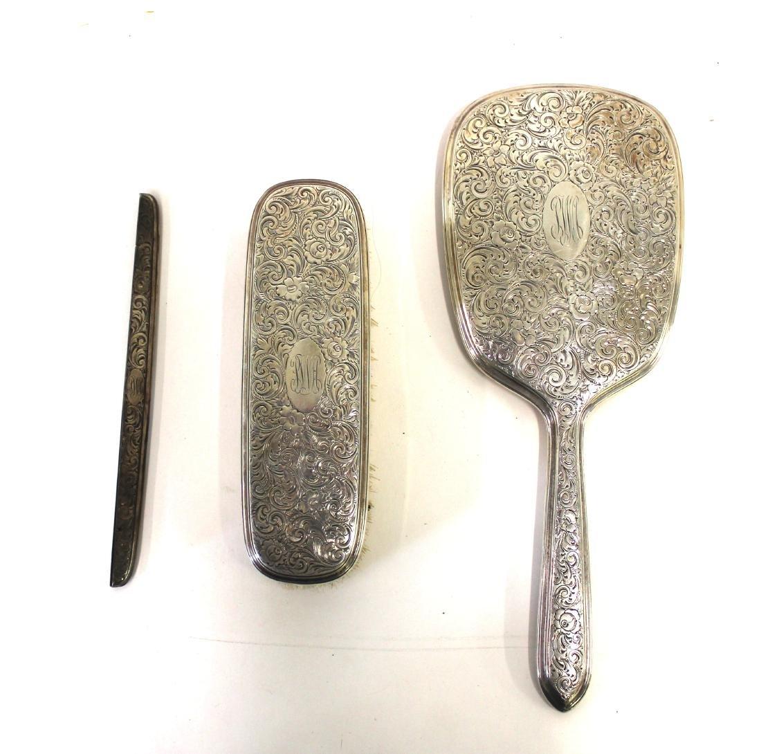 Gorham Sterling Silver Dressing Table Set
