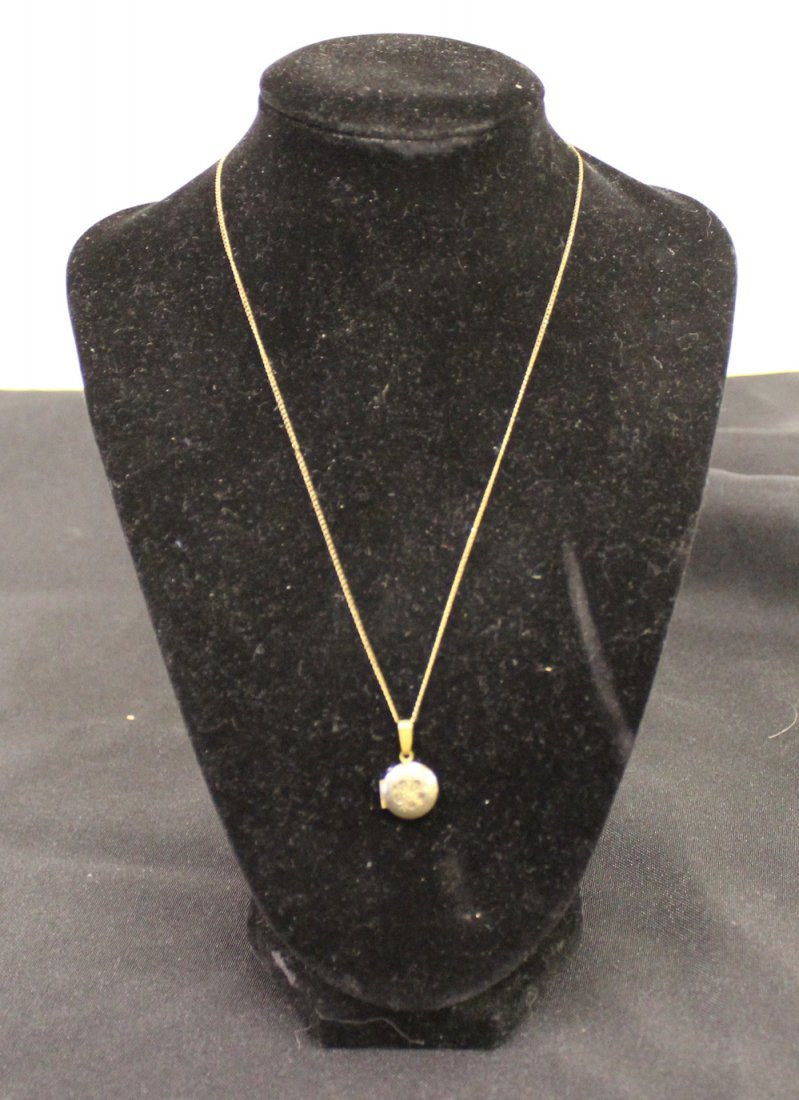 12K Gold Chain and Locket