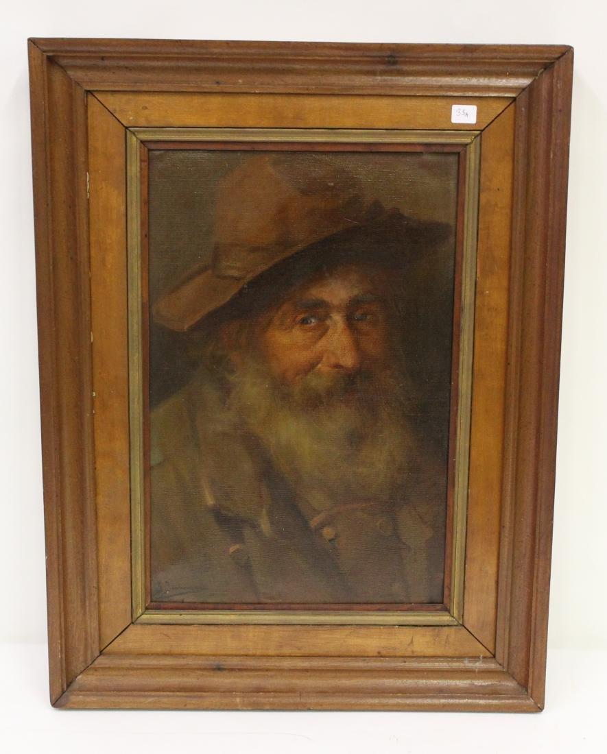 After Rembrandt. Oil. Portrait of a Man