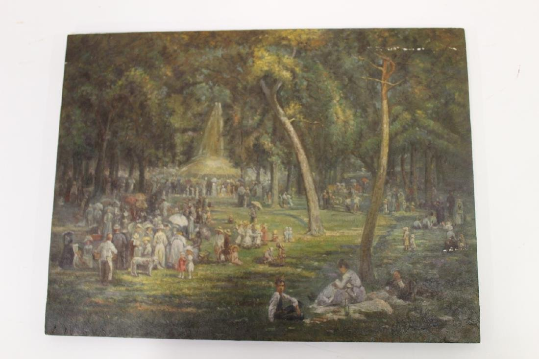 S. R. Gifford. Oil. Picnic Scene. Sgd.