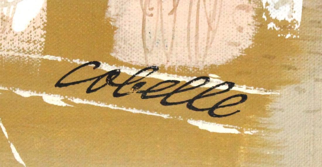 Charles Cobelle. Oil . Plaza Scene. Signed. - 2