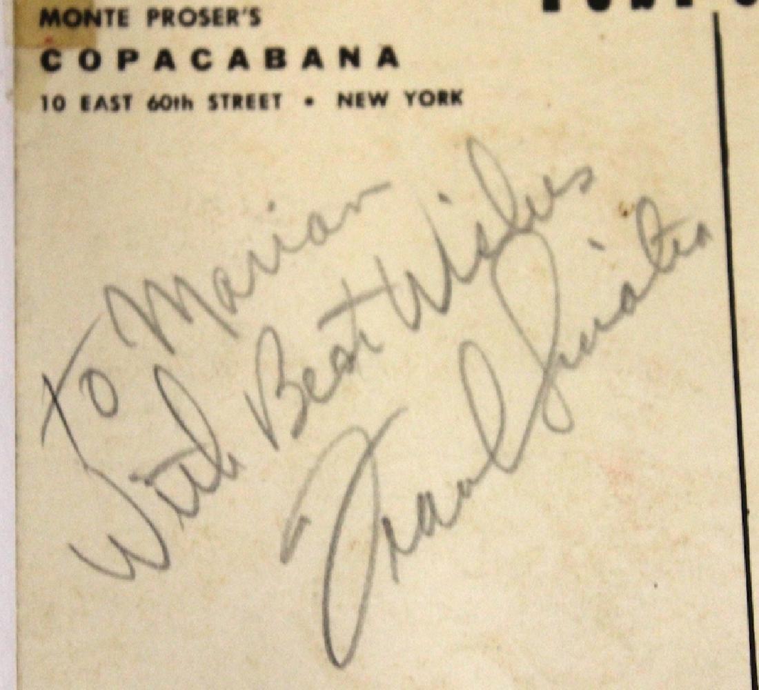 Frank Sinatra Autograph Copacabana Card - 3