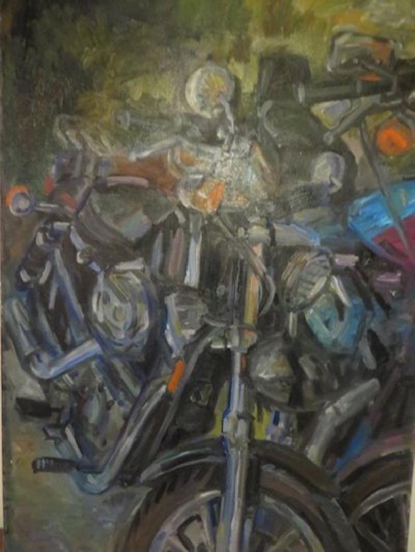 John David O'Shaughnessy. Motorcyle. Sgd.