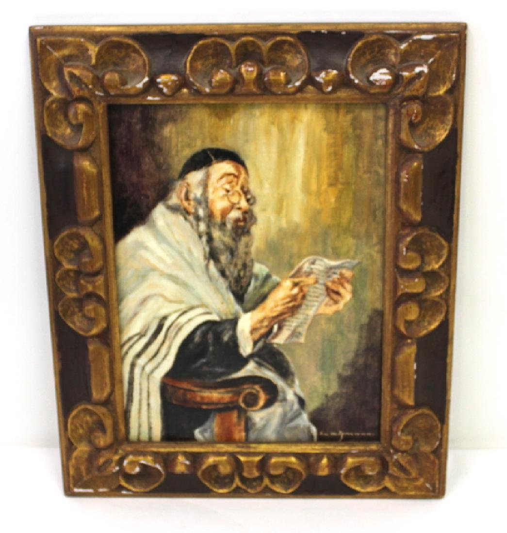 Lehmann. Henri. Oil on Canvas. Rabbi. Signed.