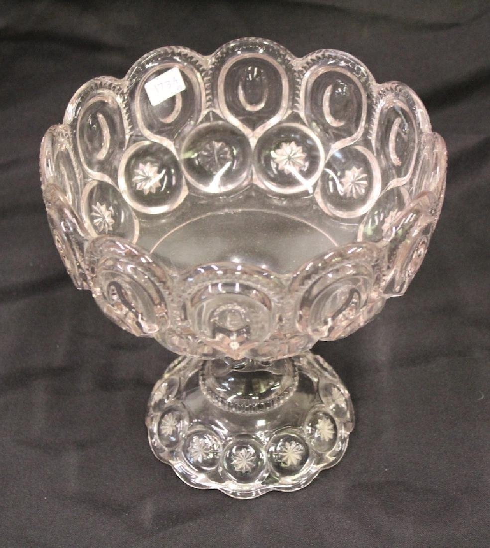 American Pressed Glass Compote