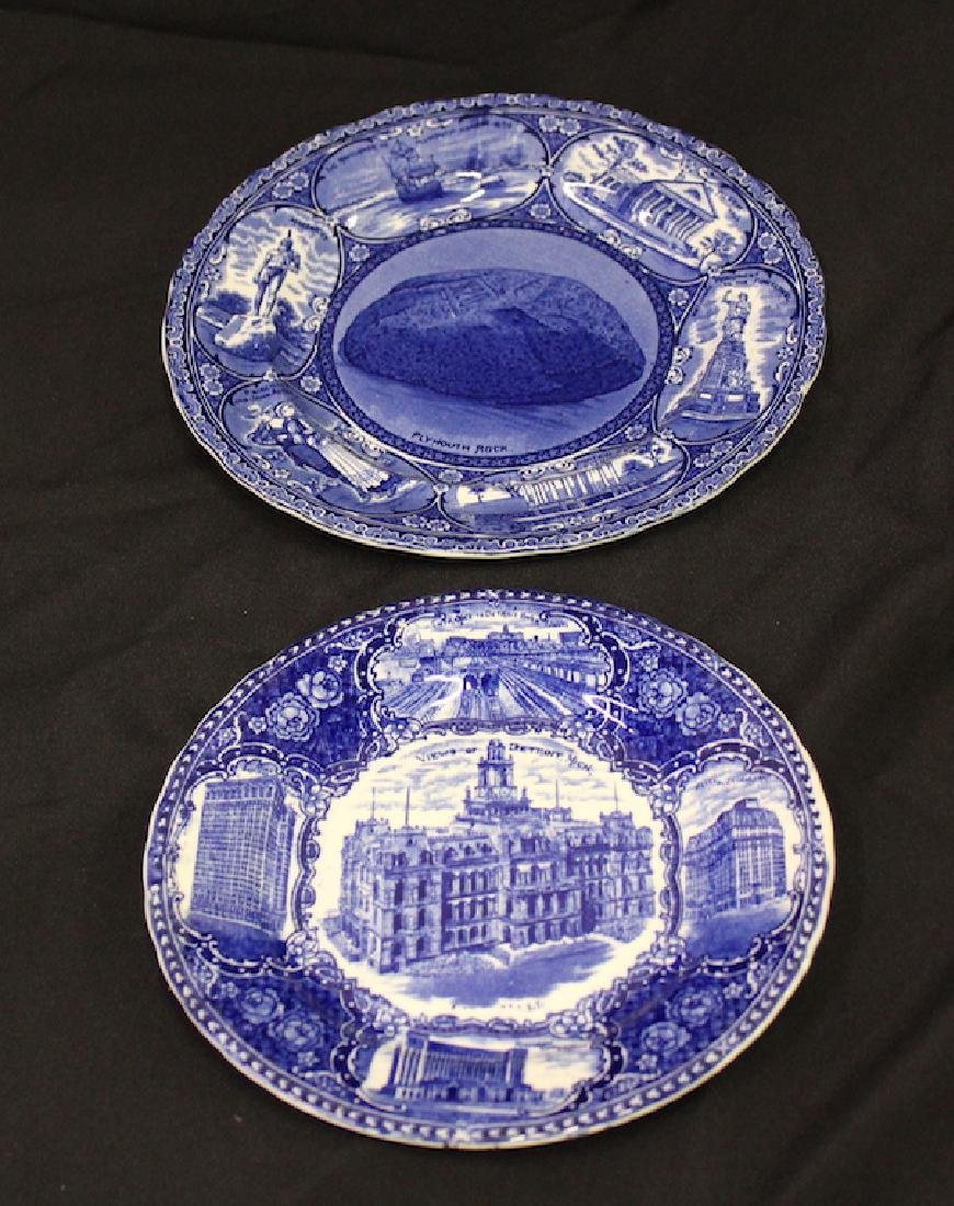 Flo-Blue Plates. Detroit and Plymouth Rock