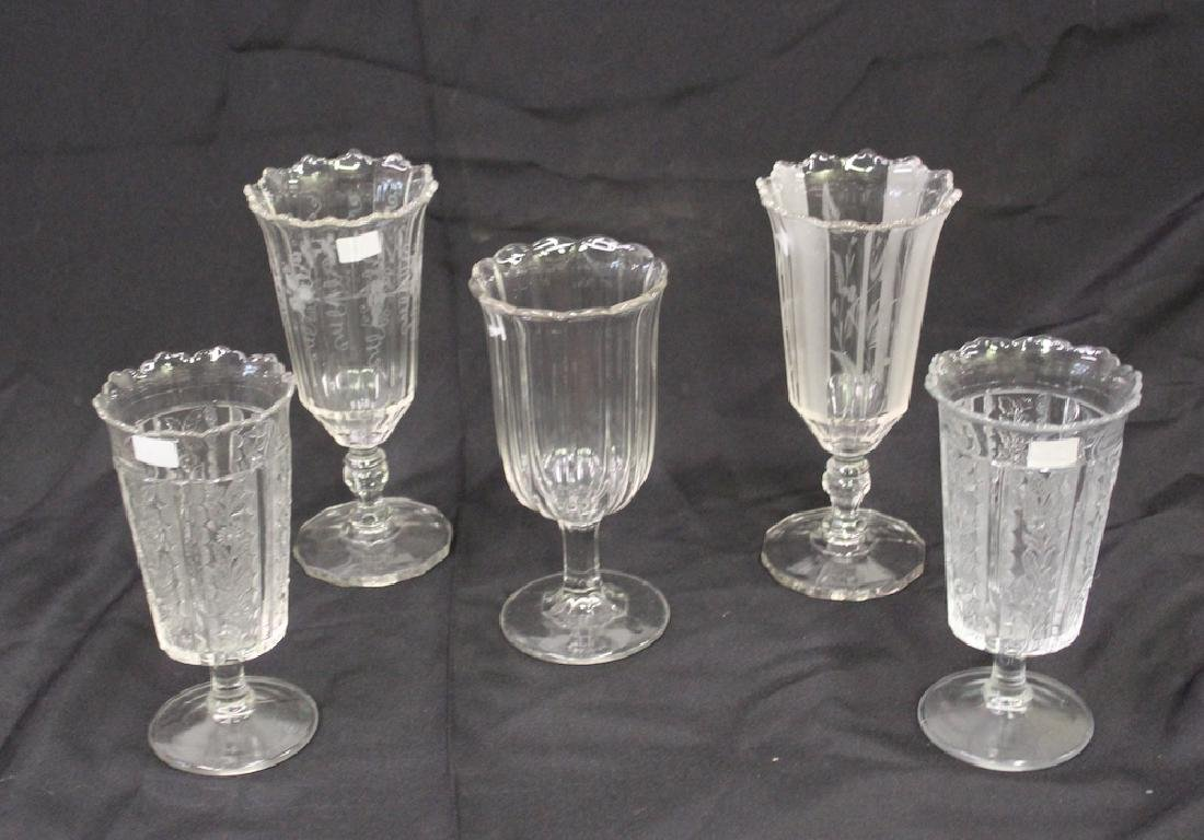 American Pattern Glass Celery Collection (5)