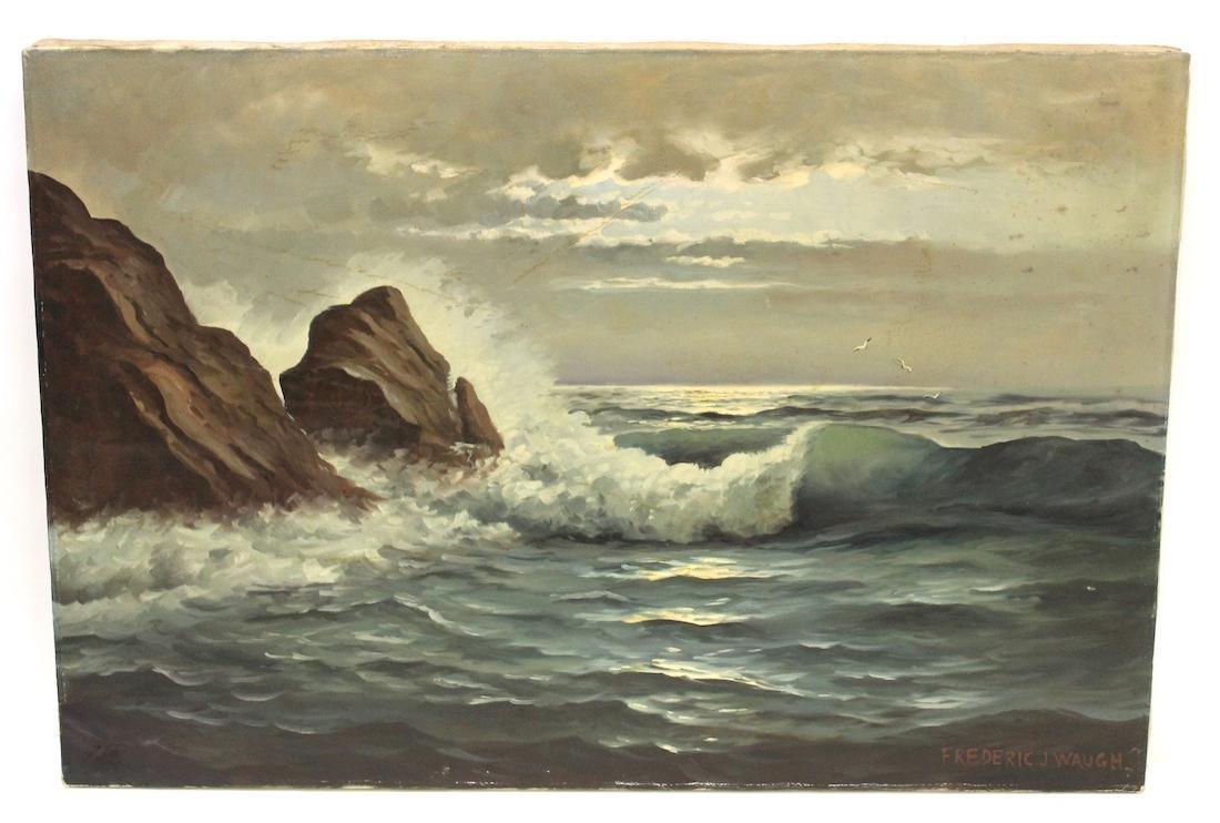 Frederic Waugh. Oil. Seascape Sgd.