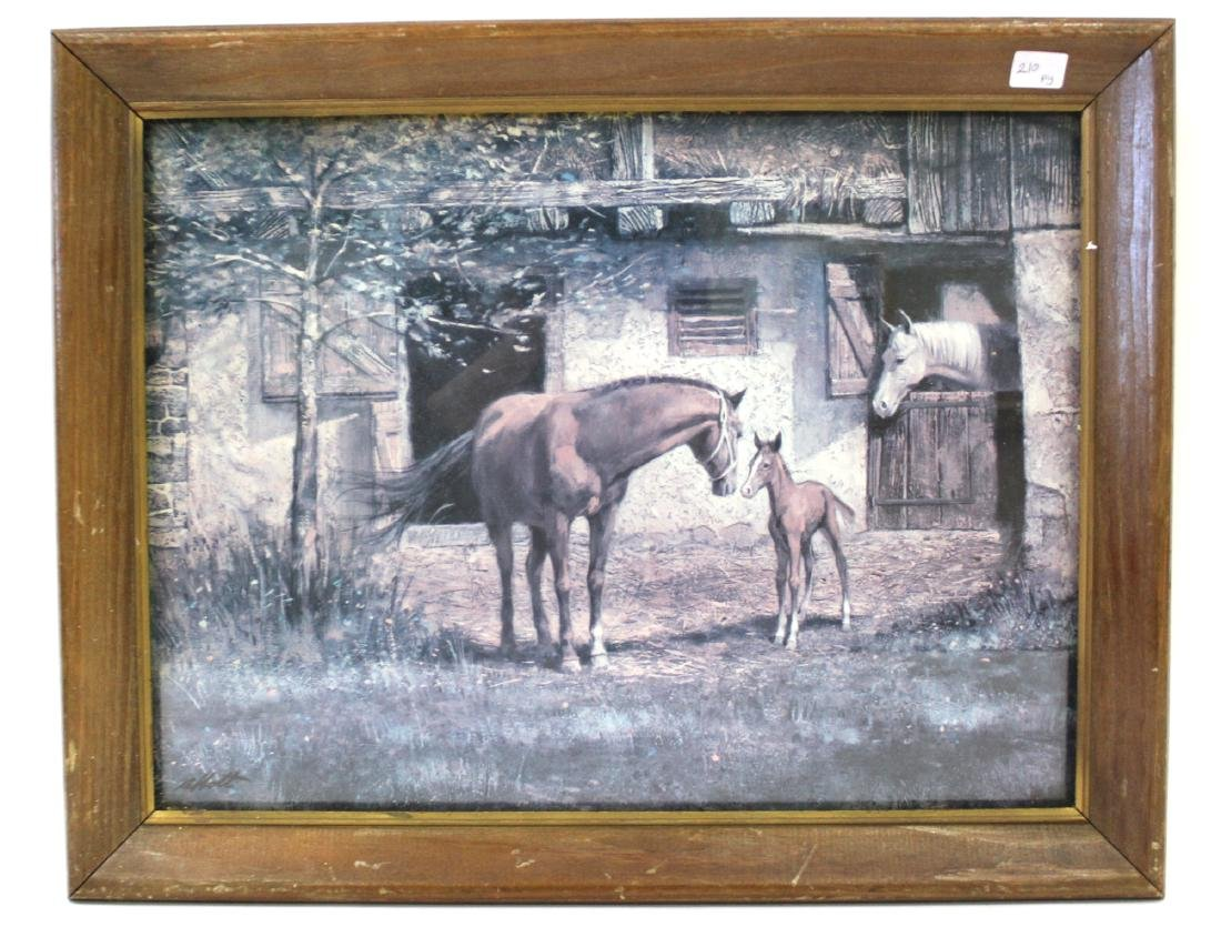 Horse Country Print. Signed. Framed.