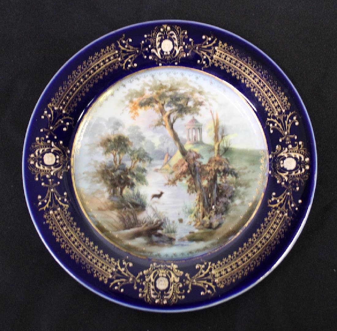 Hand Painted Scenic Plate Deer Decoration