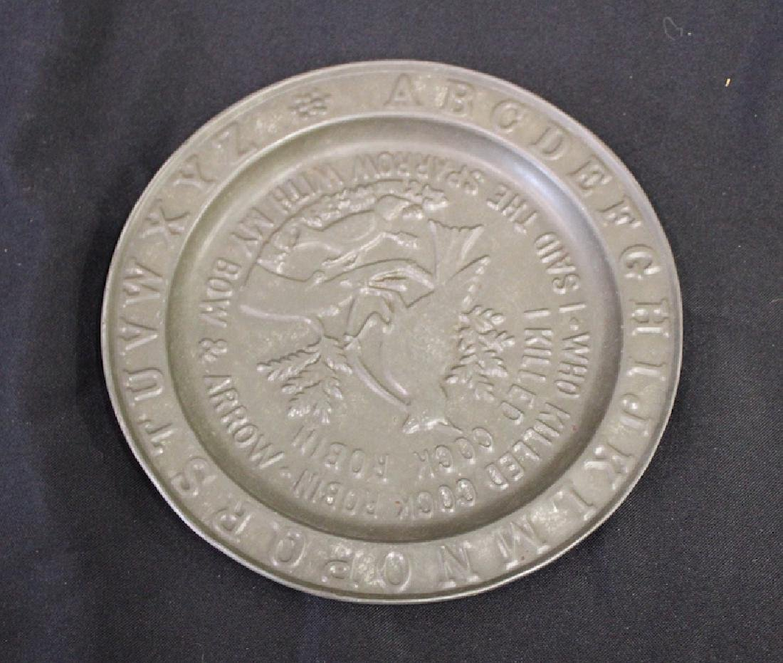 19th C. Tin Alphabet and Verse Plate