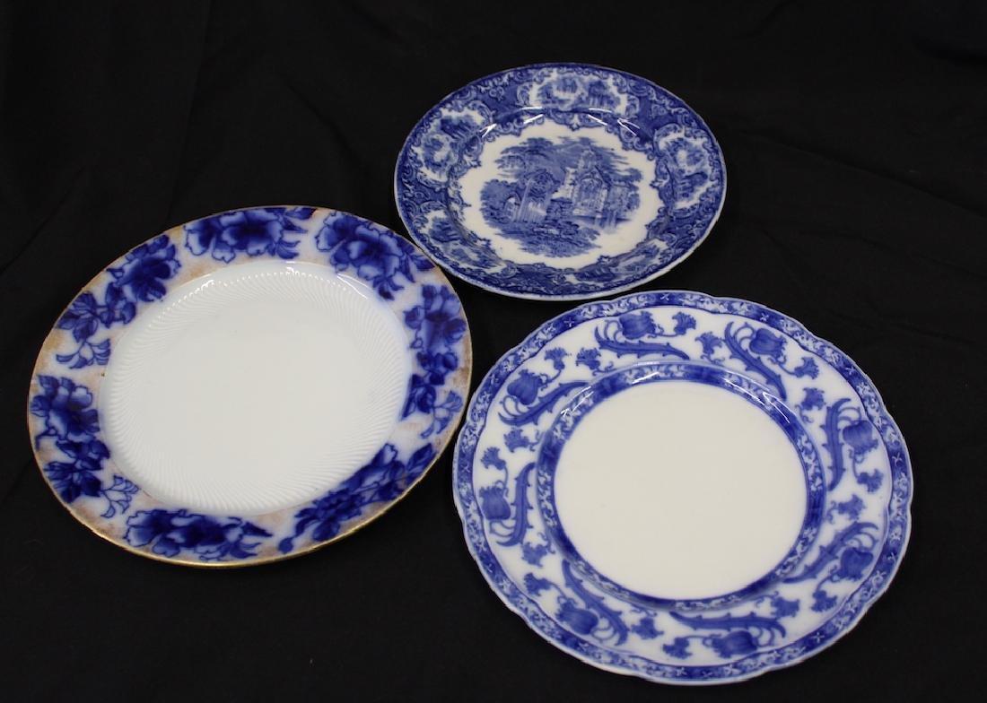 English Flo-Blue Plates (3)