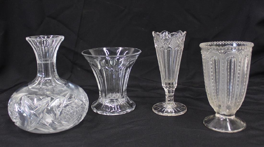 Estate Lot of Collectible Glass . Four items