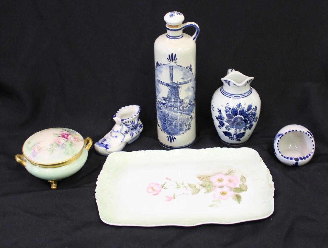 Collectors Lot of Delft & Limoges China (6)