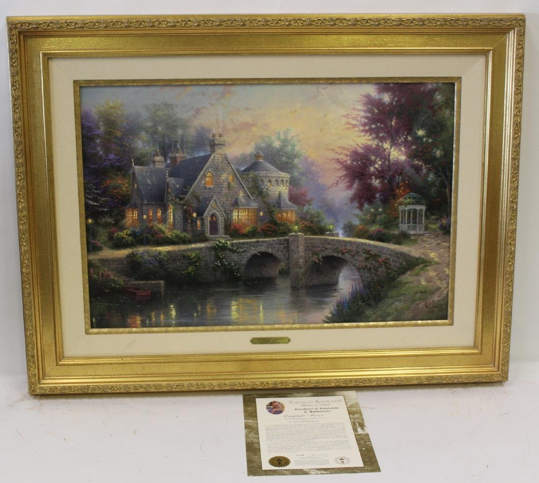 Thomas Kinkade. Lamplight Manor. COA