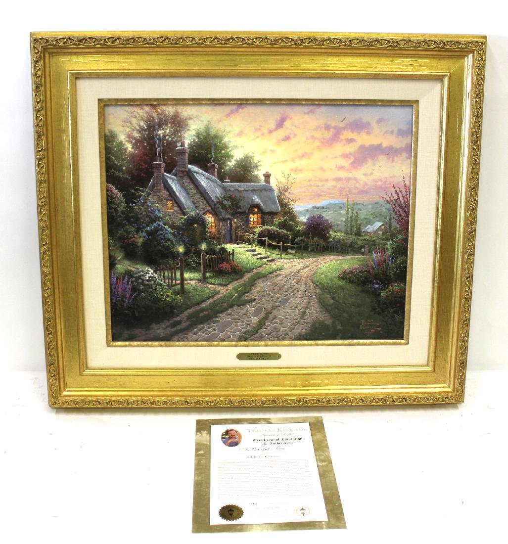 Thomas Kinkade. A Peaceful Time . COA