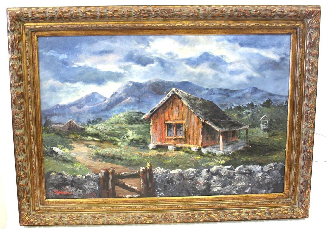 Cherrie . Oil. Western Landscape. Sgd.