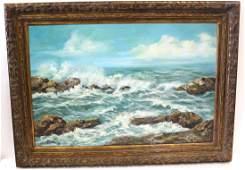 Cherrie. Oil. Seascape. Signed.