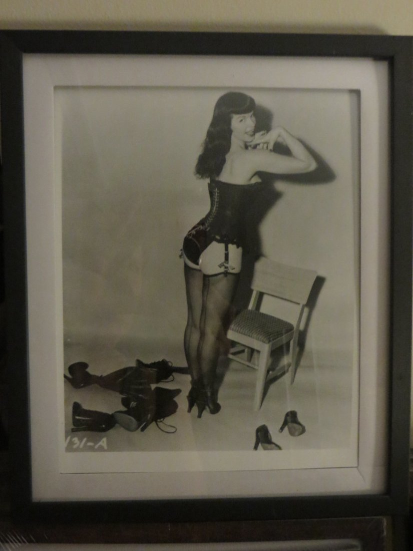 Framed 8 x 10 Orig photo Bettie Page - 2