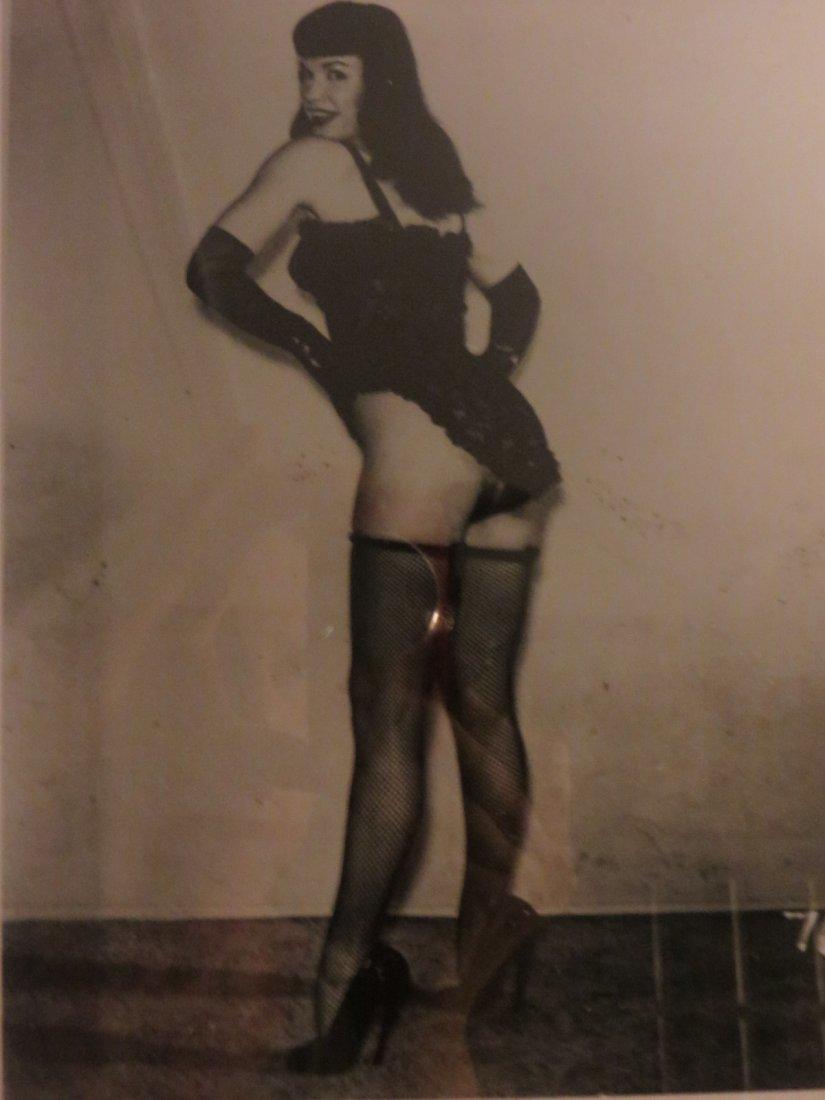 Original Framed 8 x 10 Bettie Page Photo