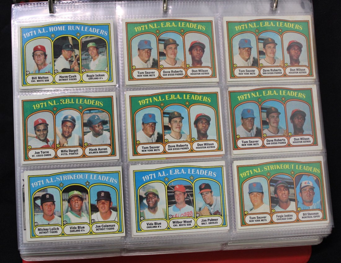 Topps Baseball Cards 1971 to 1992 (Approx. 500)