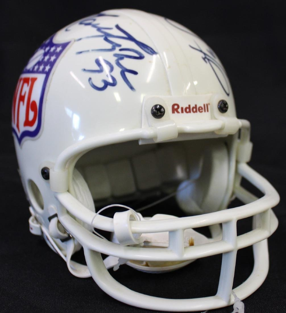 Giants and Jets Autographed Mini Helmet