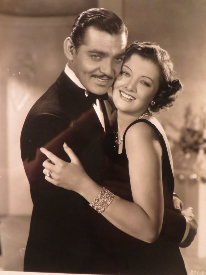 Clark Gable & Myrna Loy Movie Still