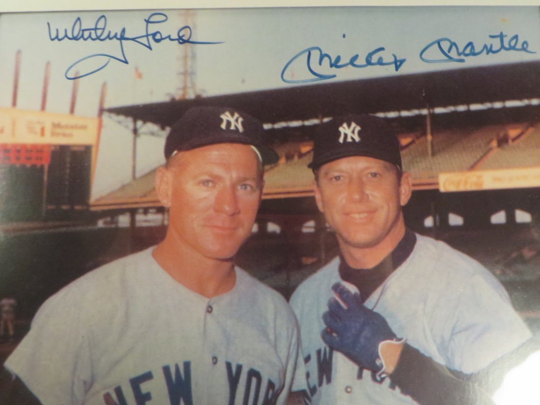 Mickey Mantle & Whitey Ford Autographed Photograph