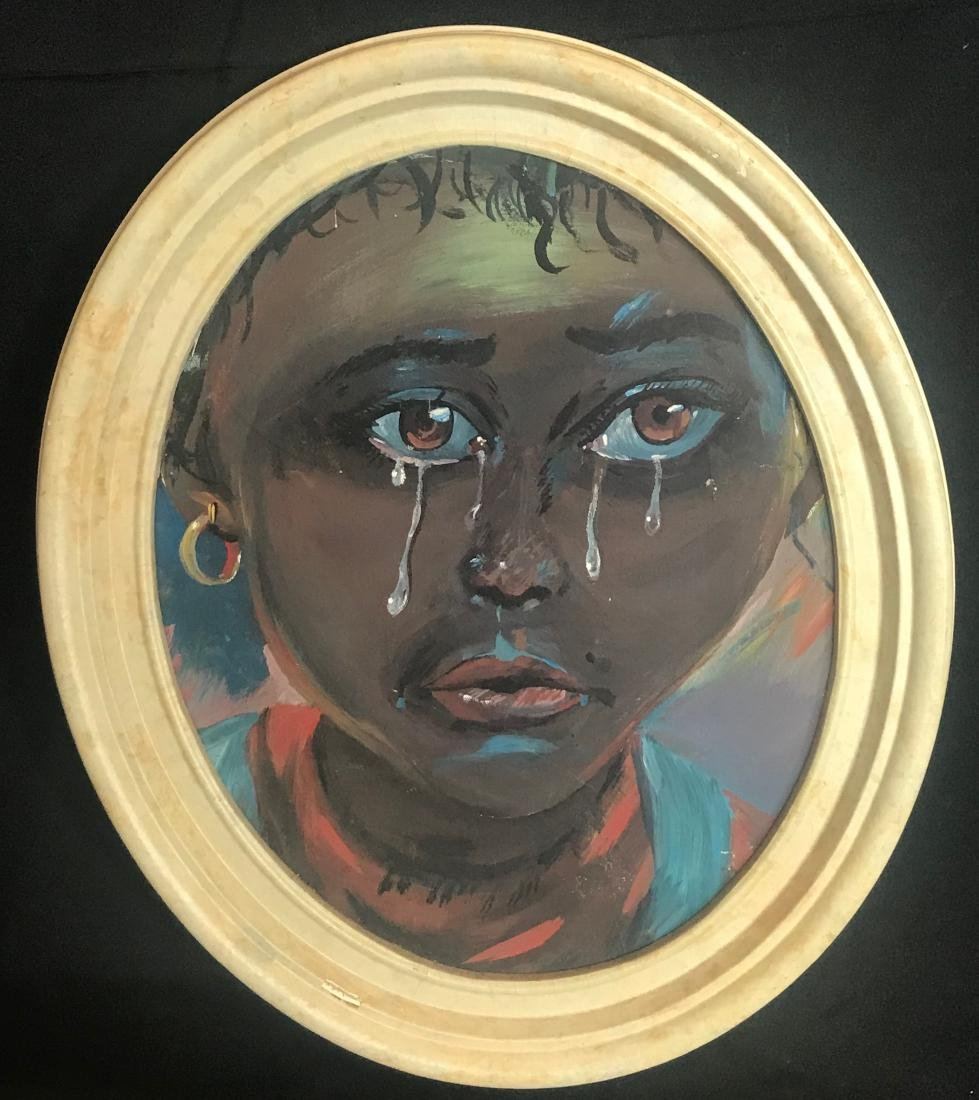 Arky. Oil. Teary African Child.