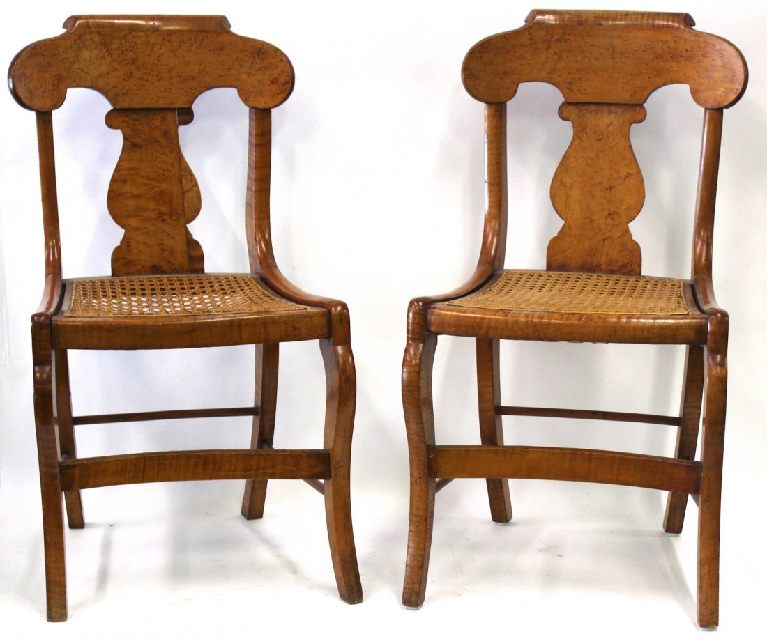 Smith Ely  NYC. Empire Chair Set. C.1830. Signed.