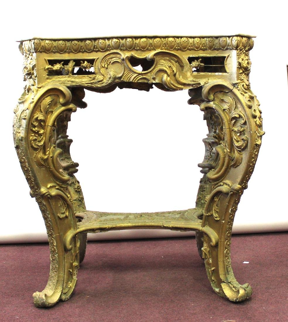 19th C. French Giltwood Console Table