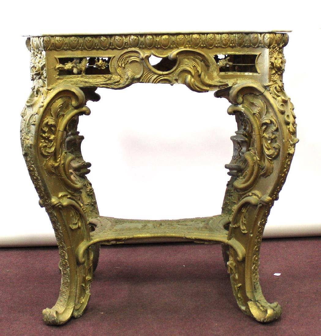 19th C. French Giltwood Console Table - 2