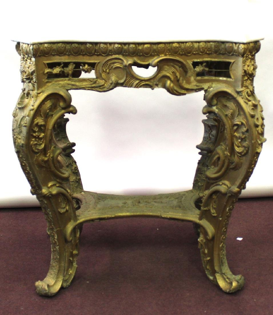 19th C. French Giltwood Console Table - 3