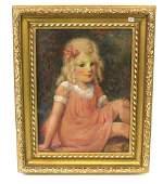 William Glackens. Portrait. Signed