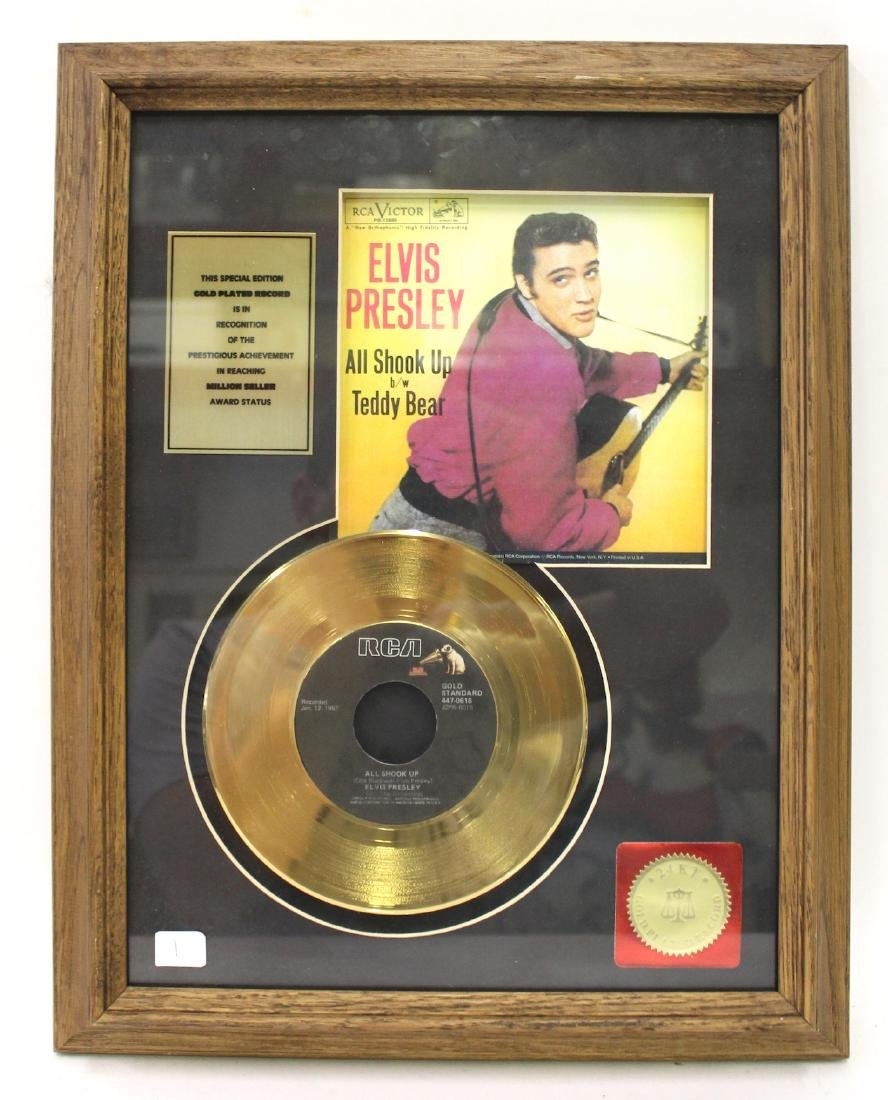 Framed Elvis Gold Plated Record