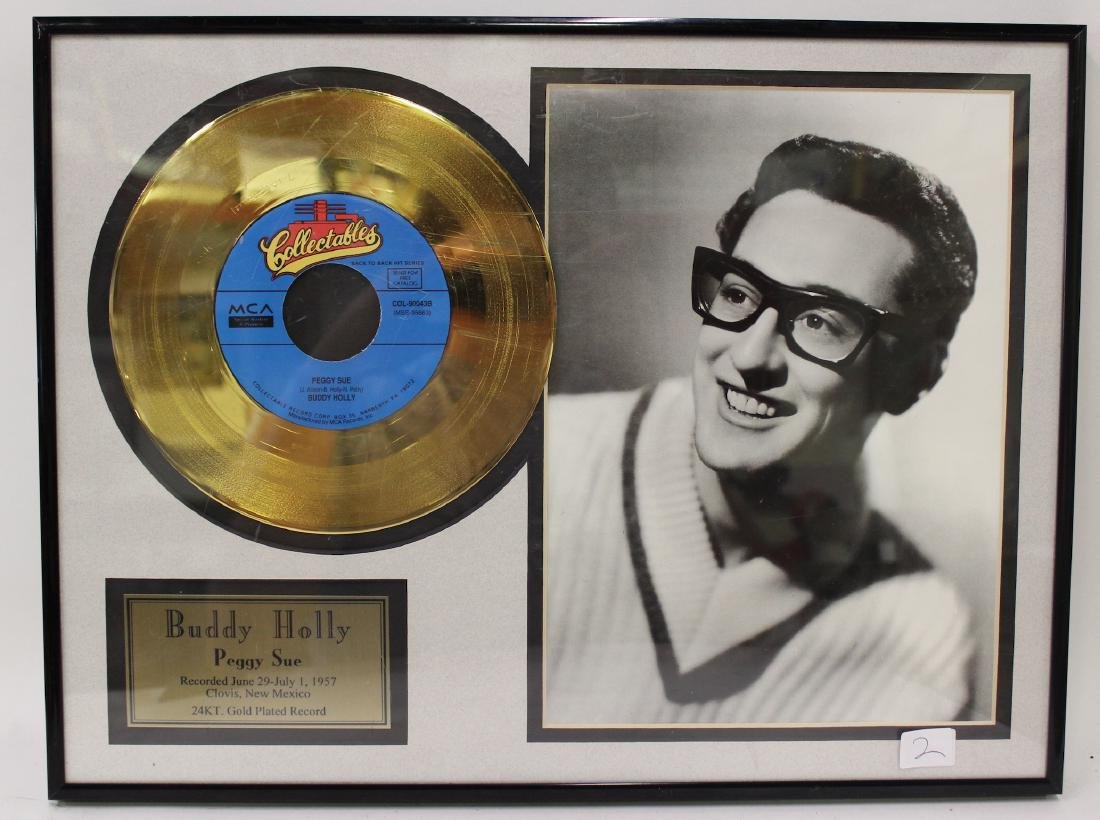 Framed Buddy Holly Gold Record