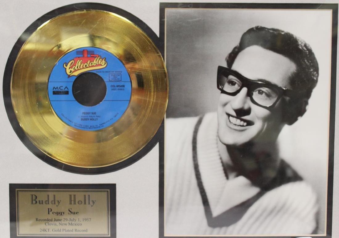Framed Buddy Holly Gold Record - 2