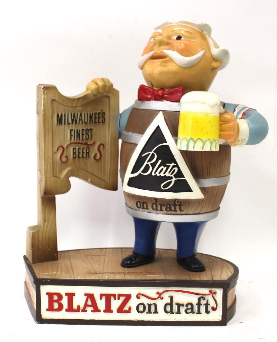 Blatz On Draft Beer Display Advertising Figure