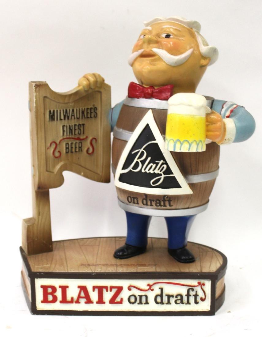 Blatz On Draft Beer Display Advertising Figure - 2