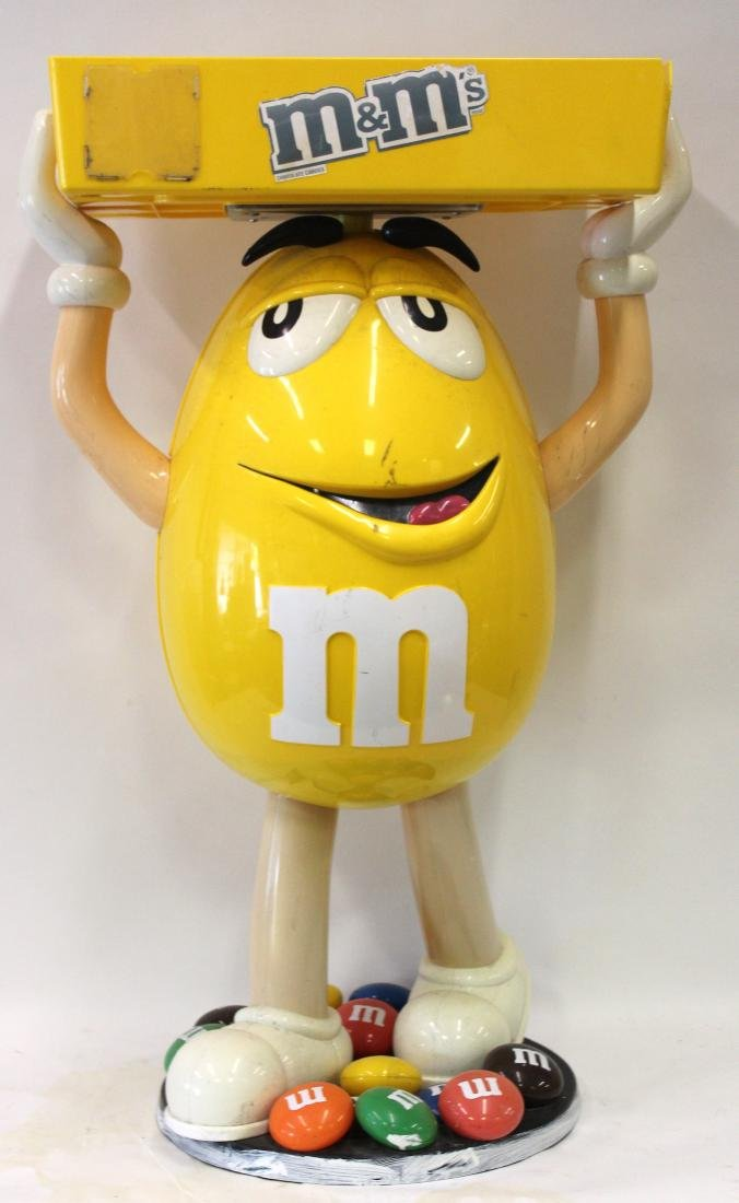 M & M  Candy Yellow Figural Store Display