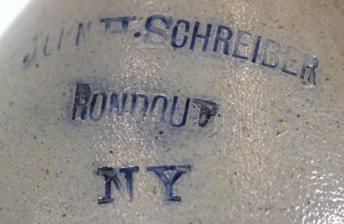 Stoneware Jug. John H, Schreiber Roundout NY - 2
