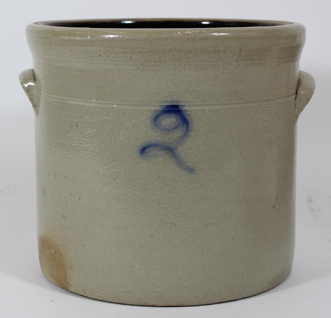 Stoneware Crock. 2 Gal. Double Handles