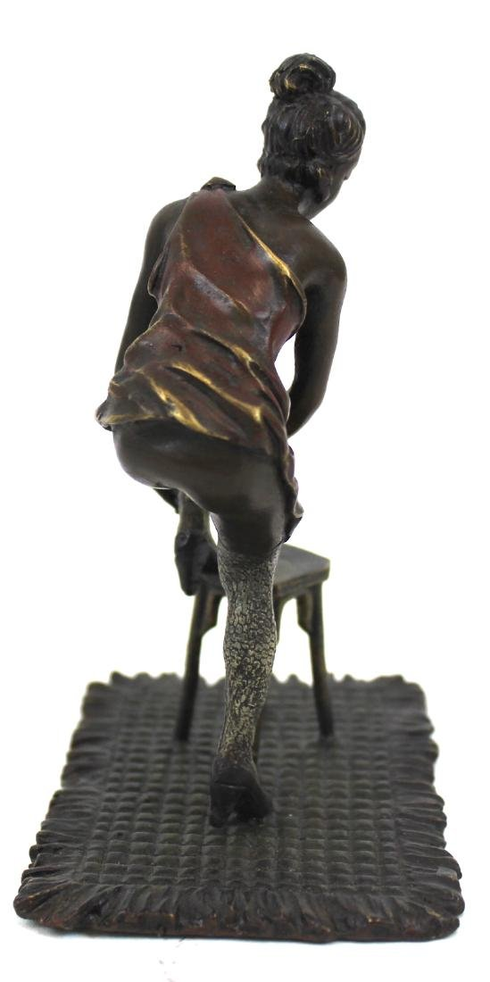 Cabinet Bronze.Girl on a Stool - 3