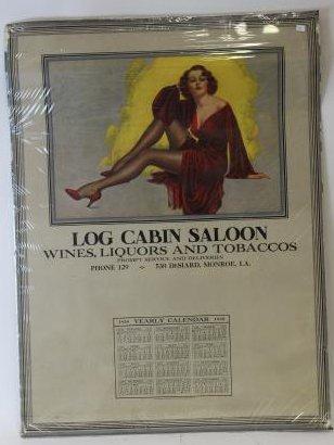 Log Cabin Saloon Liquors & Tobaccos 1938