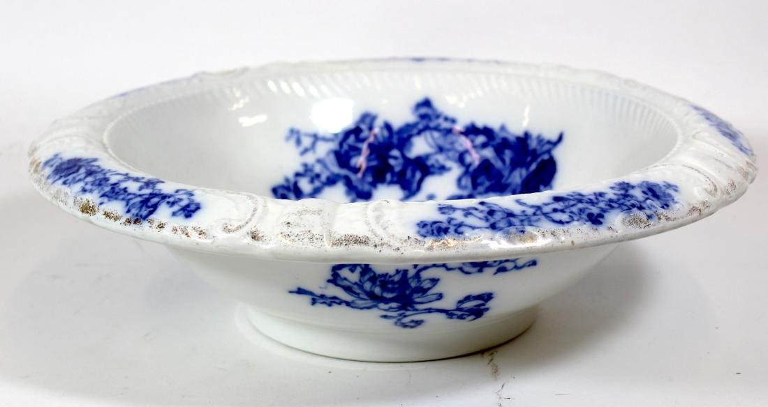 R. H. Grindley Blue and White Bas Relief Bowl