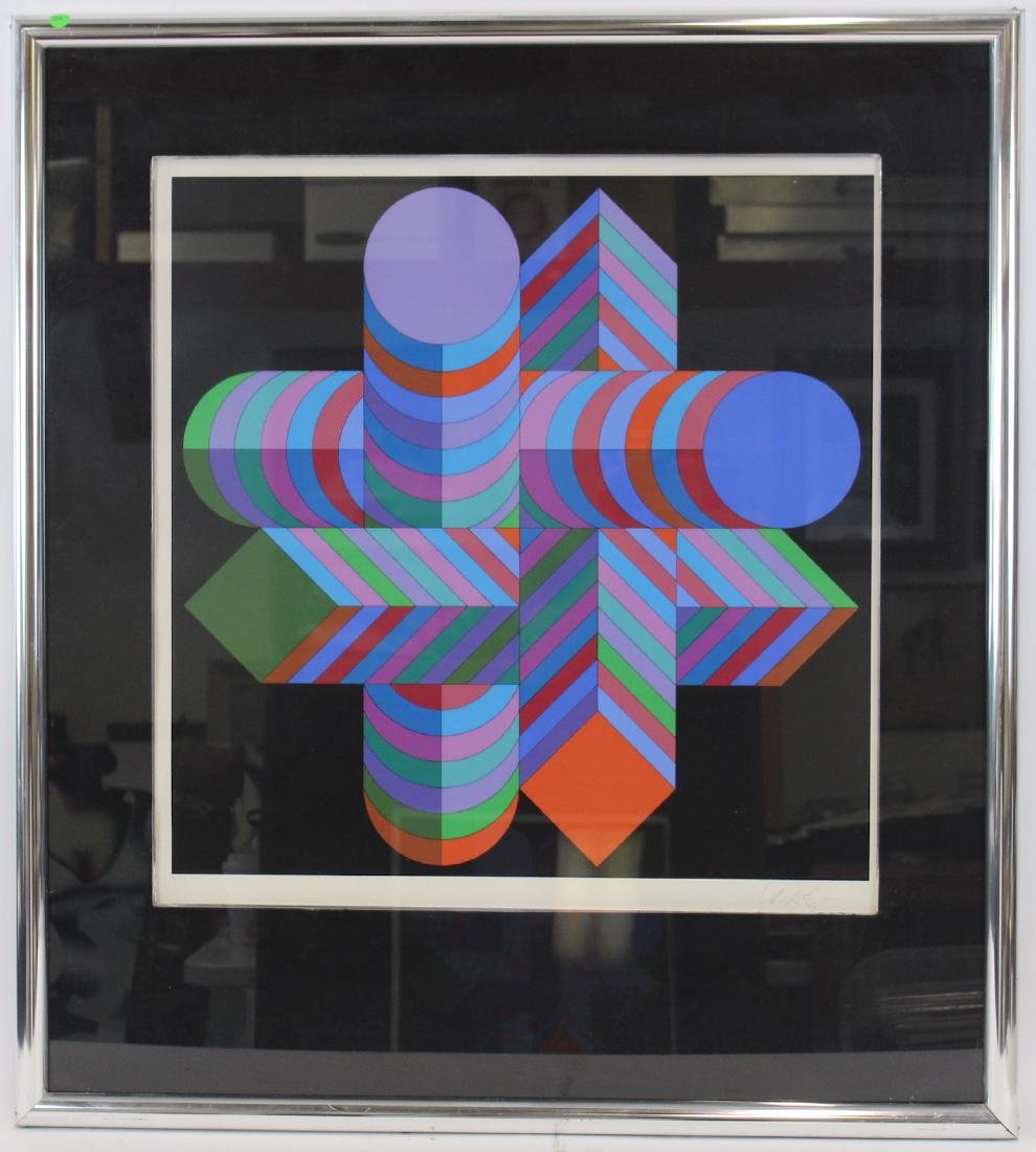 Victor Vasarely Ltd. Ed. Lithograph. Signed