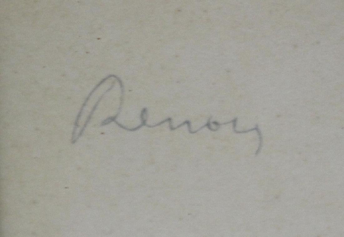 """Attr. to  Auguste Renoir Pastel """"Girl in Violet"""" - 3"""
