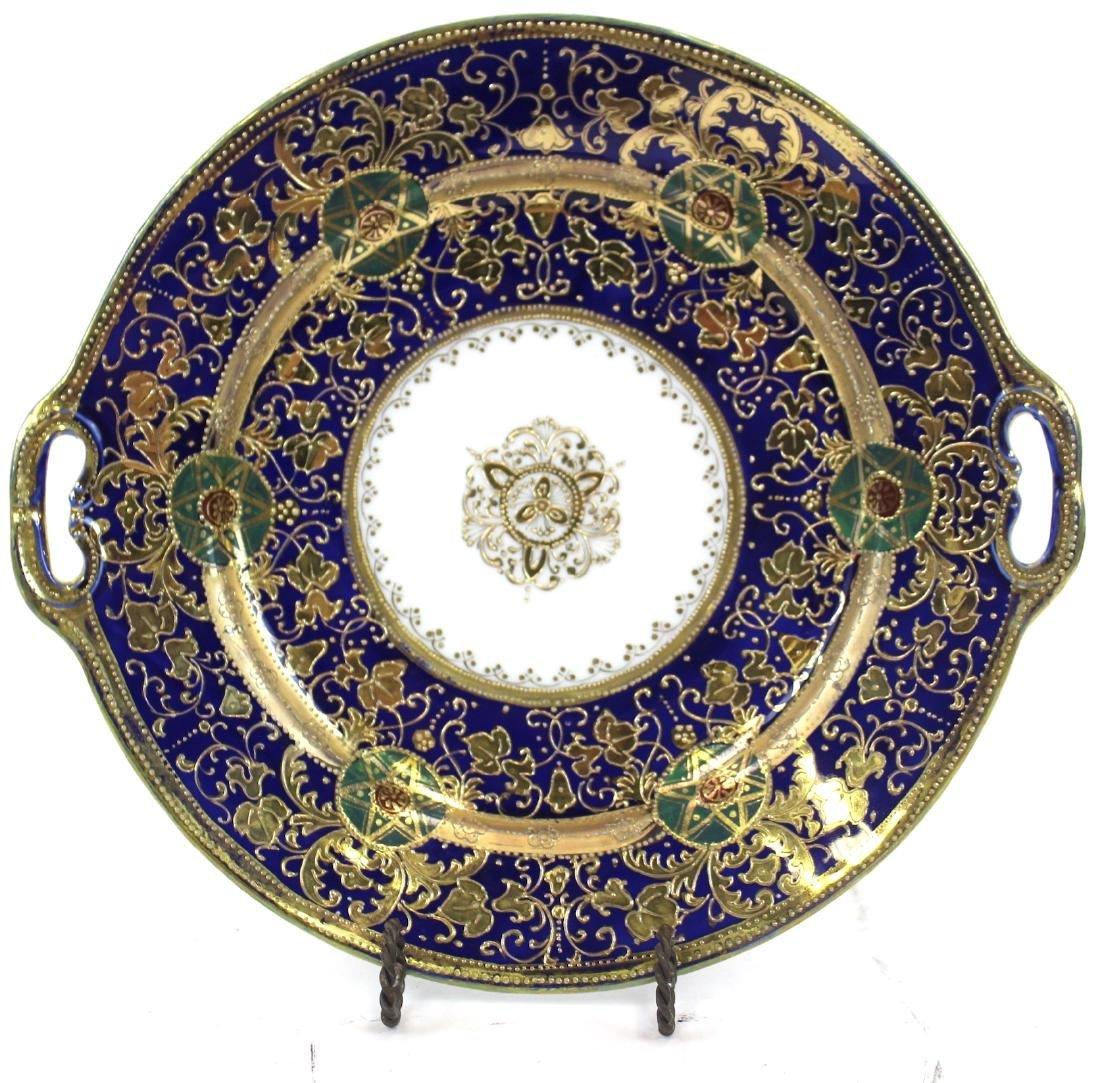 Nippon Cobalt and Gilt Decorated Platter