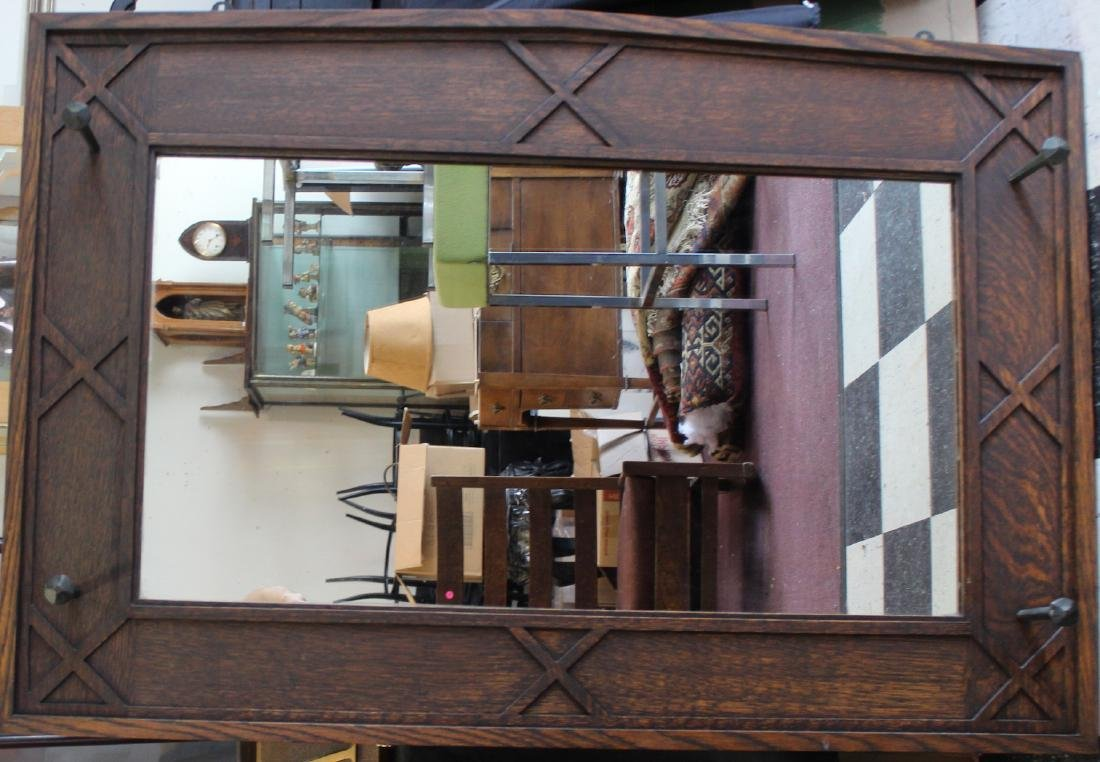 Arts and Crafts Mission Oak Wall Mirror