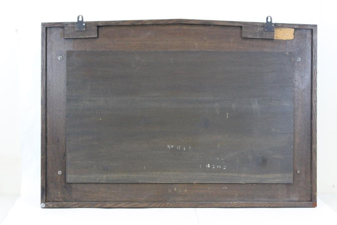 Arts and Crafts Mission Oak Wall Mirror - 3